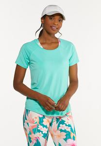 Plus Size Solid Stretch Tee