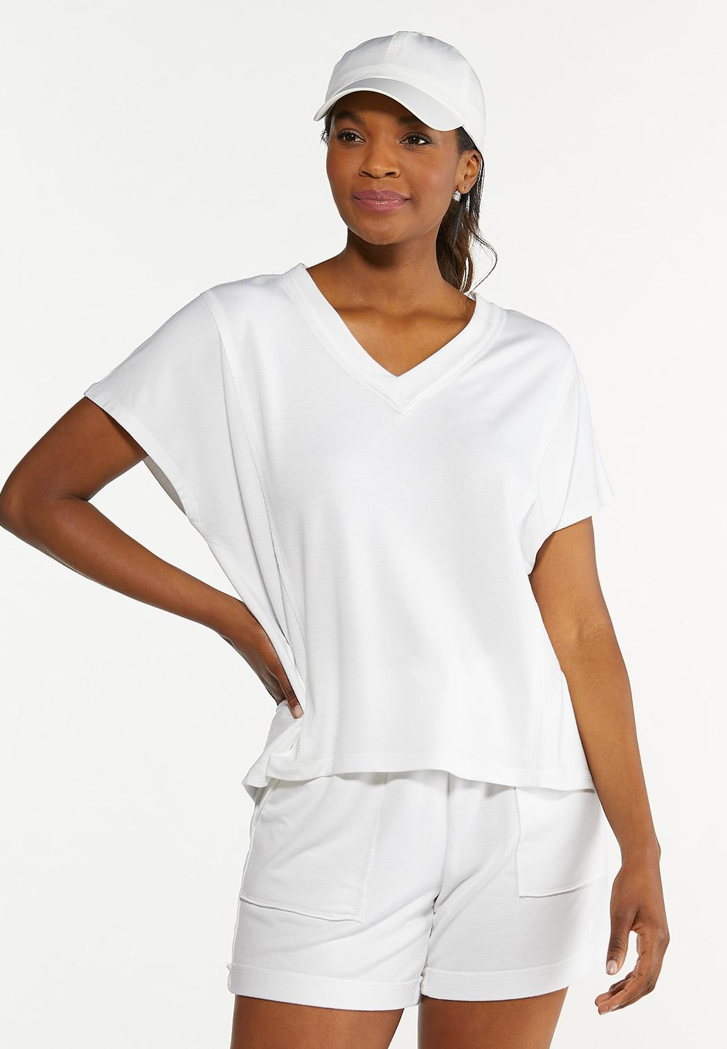 French Terry Cutout Back Top