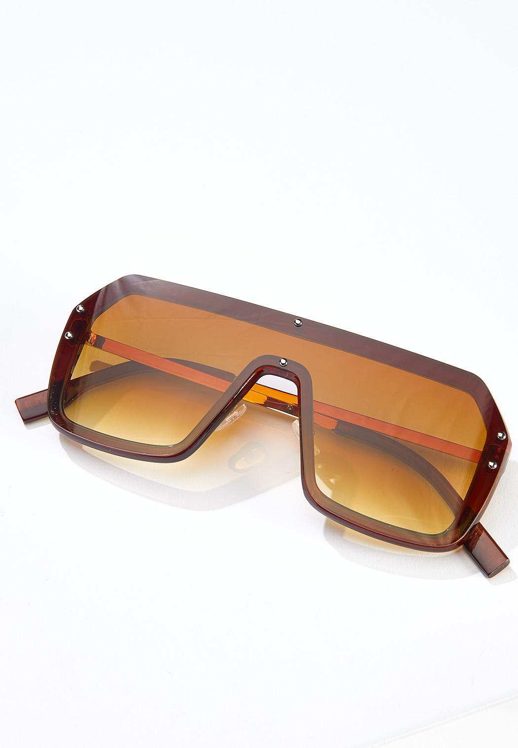 Brown Shield Sunglasses
