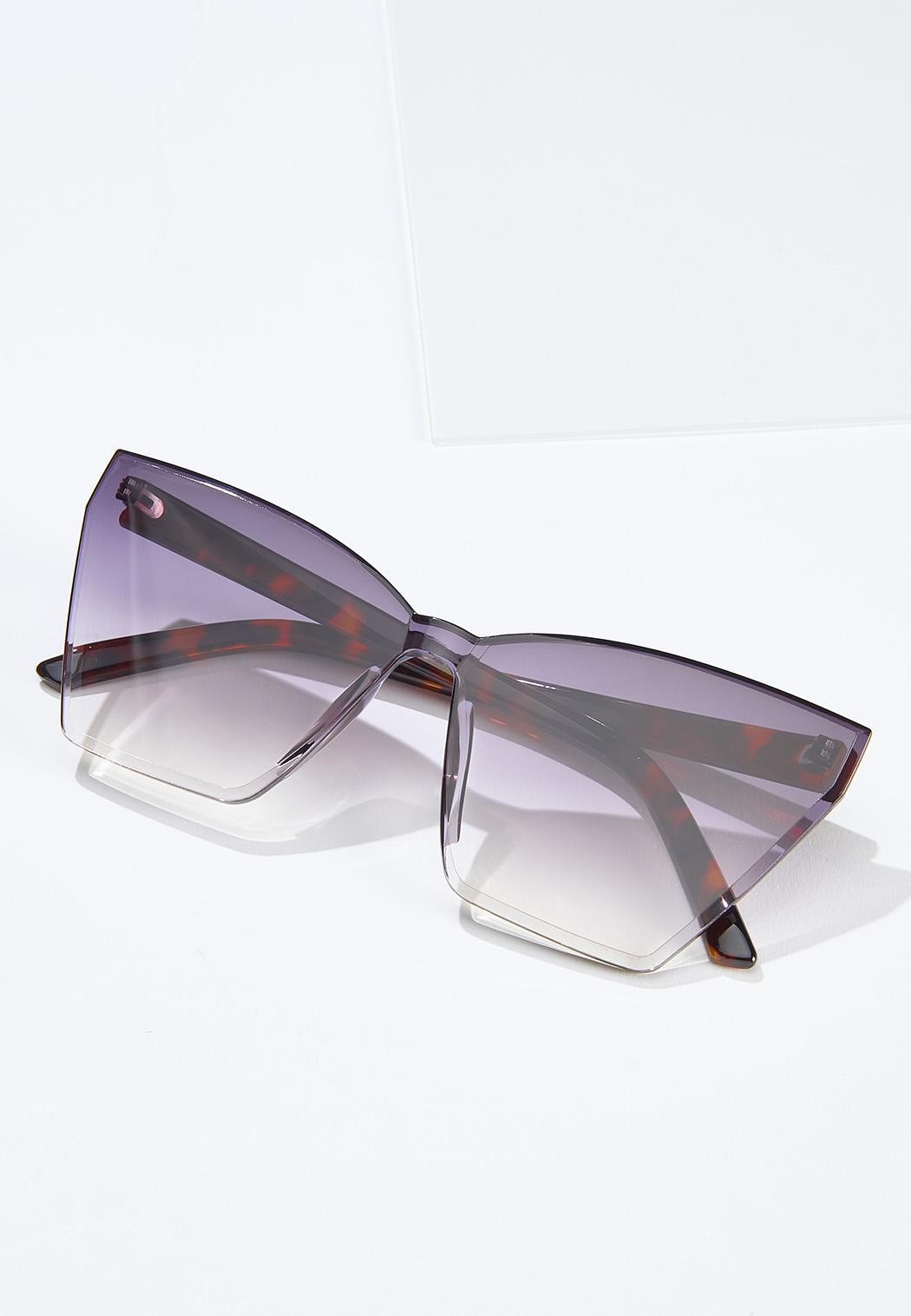 Tortoise Arm Cat Eye Sunglasses