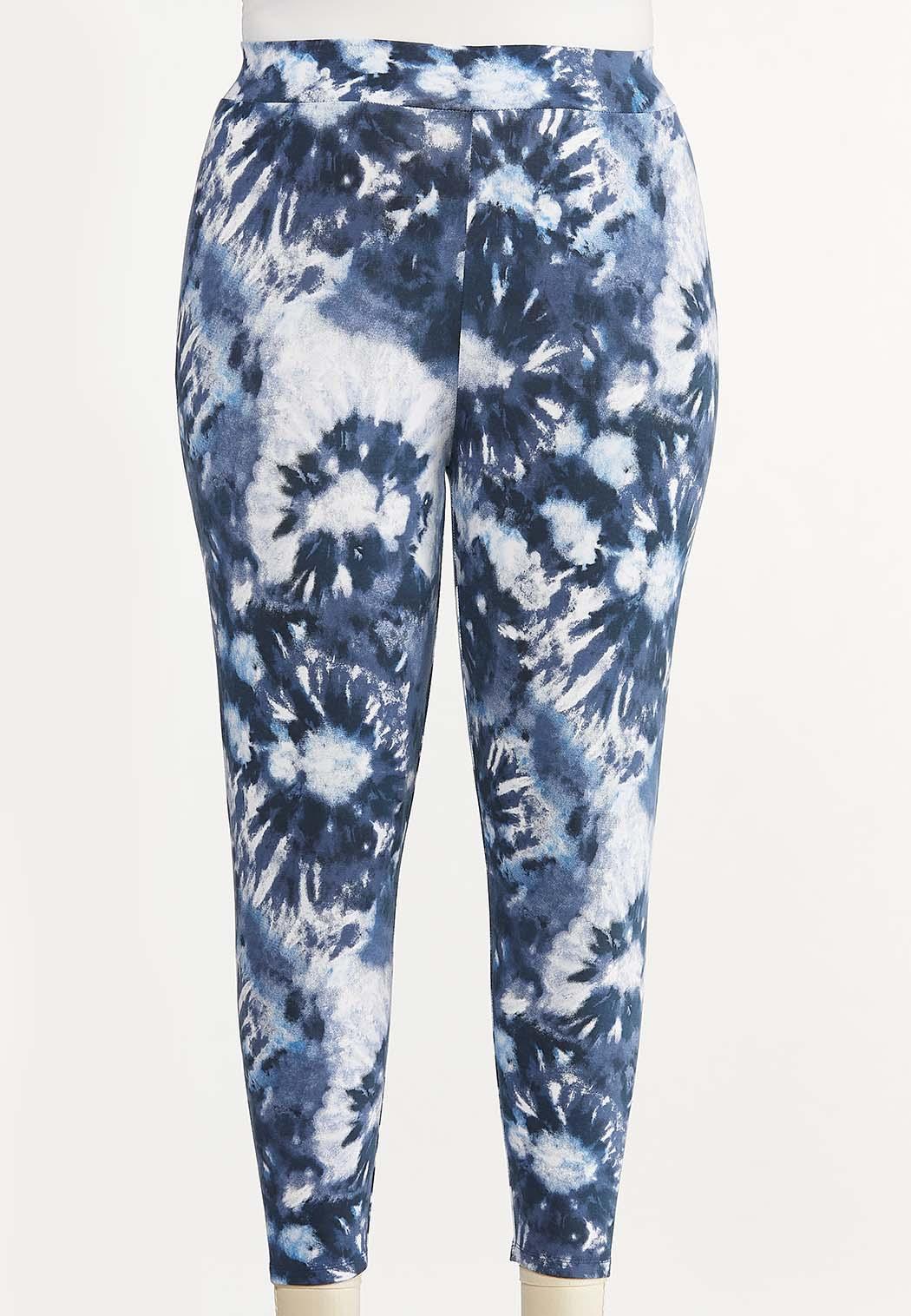 Plus Size Cropped Tie Dye Leggings