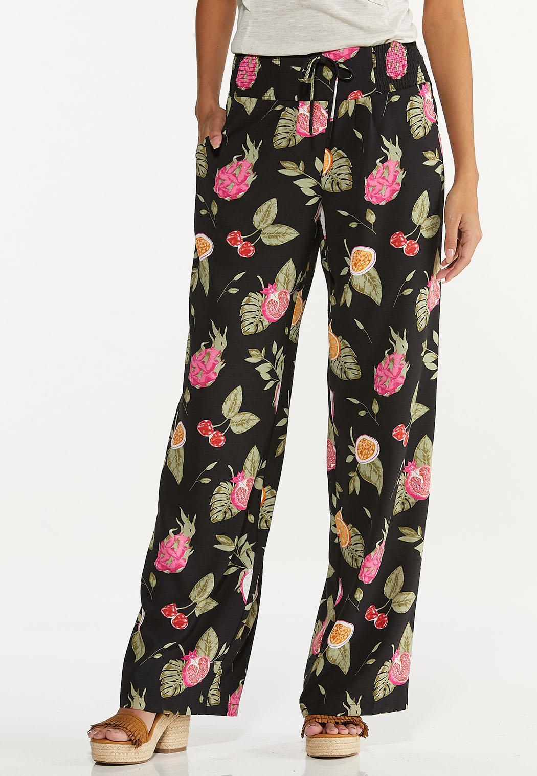 Petite Tropical Fruit Cocktail Pants
