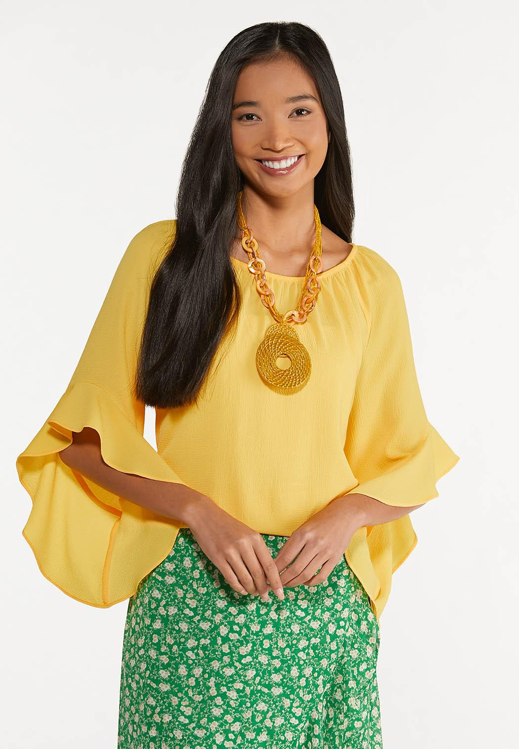 Plus Size Crepe Tiered Sleeve Top