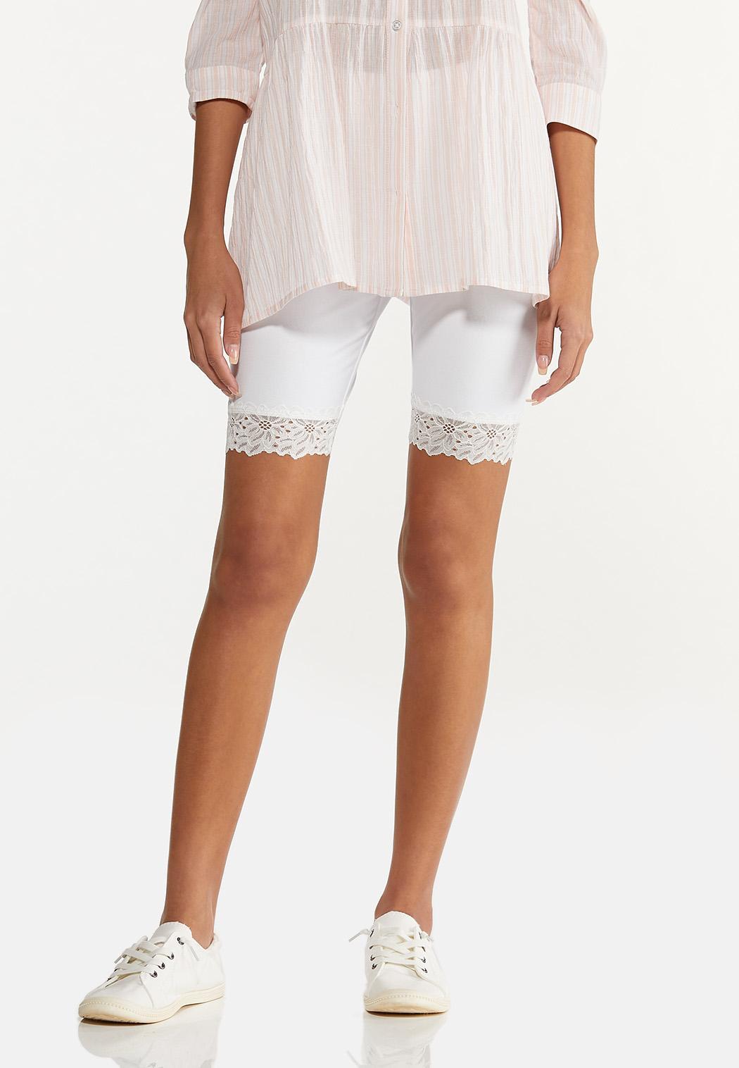 Lace Trim Biker Shorts