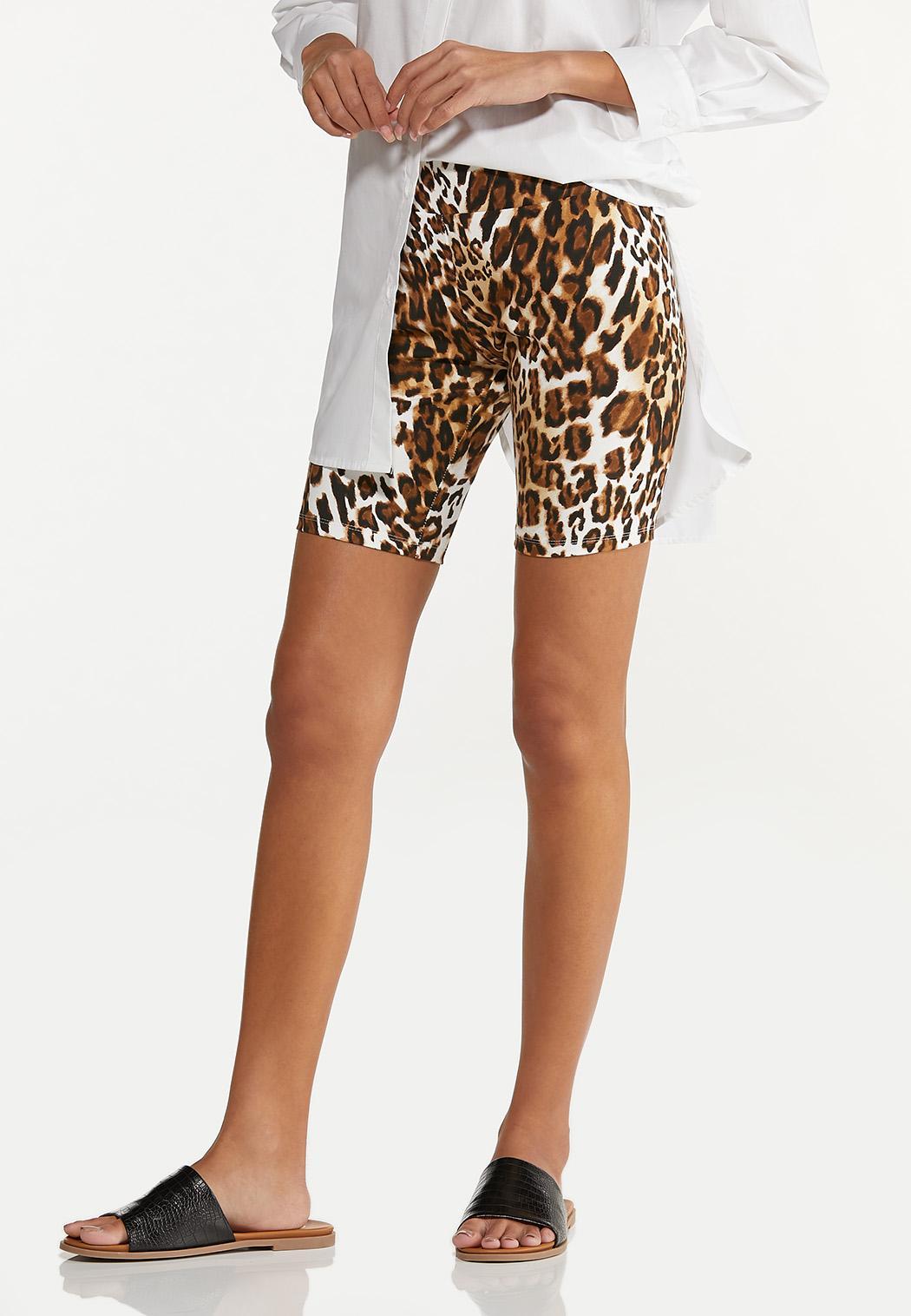 Leopard Biker Shorts