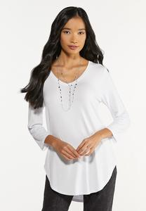 Plus Size Solid Tee Tunic