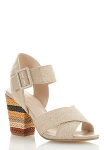 Natural Band Heeled Sandals