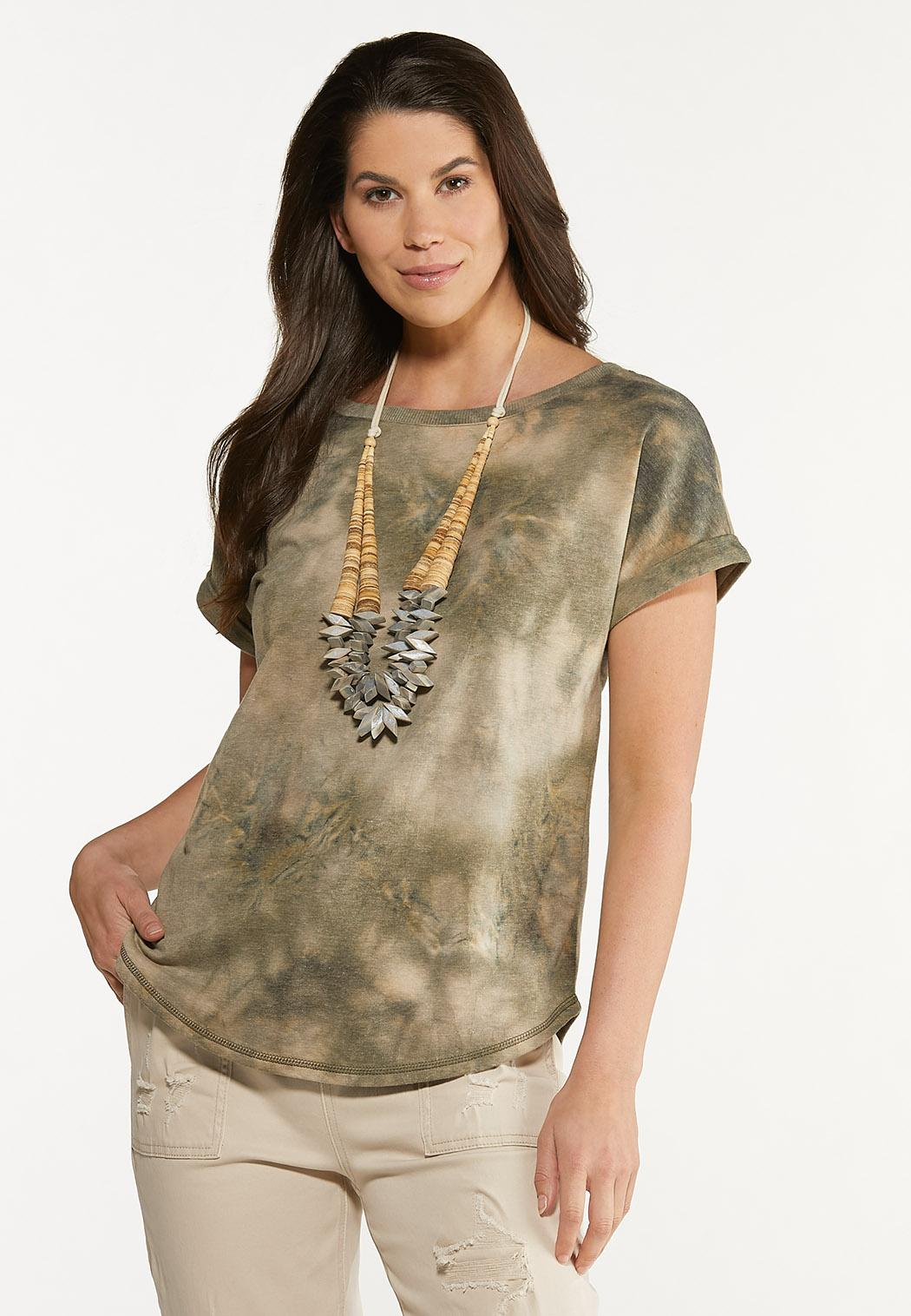 Bleached Olive Green Top