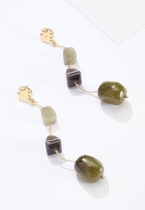 Linear Stone Earrings