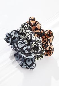 Leopard Scrunchie Set
