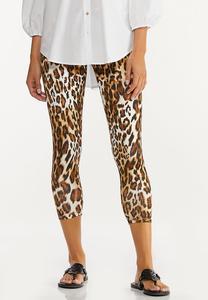 Cropped Leopard Leggings