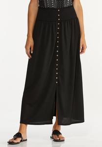 Smocked Gauze Maxi Skirt