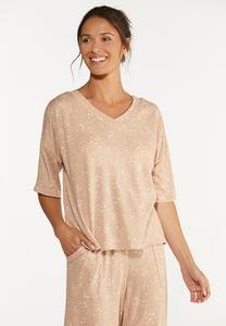 Plus Size Scattered Star Lounge Top