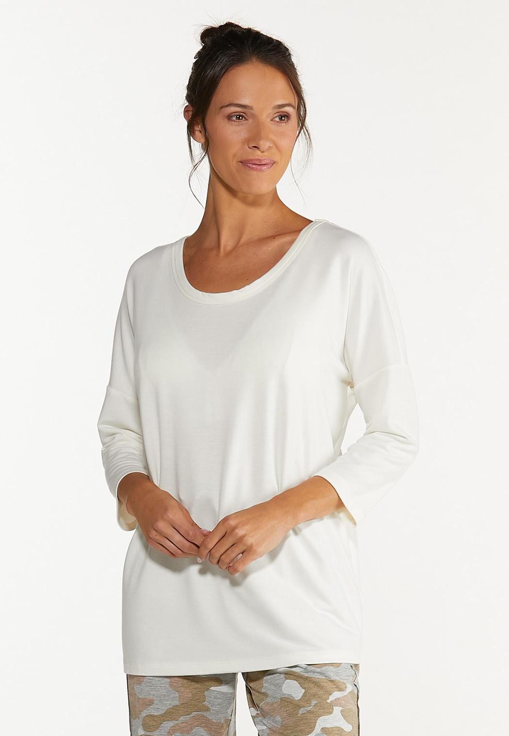 Plus Size Cutout French Terry Top