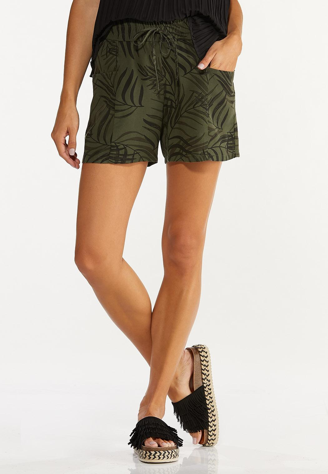 Palm Tencel Shorts