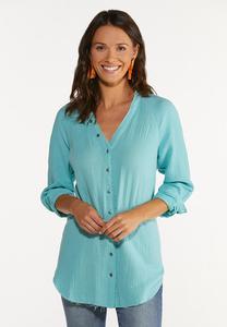 Plus Size Soft Textured Tunic