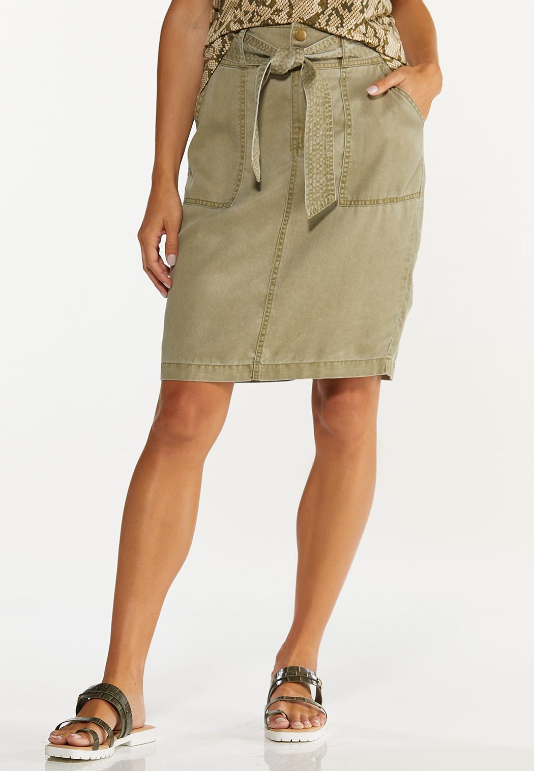 Olive Pencil Skirt