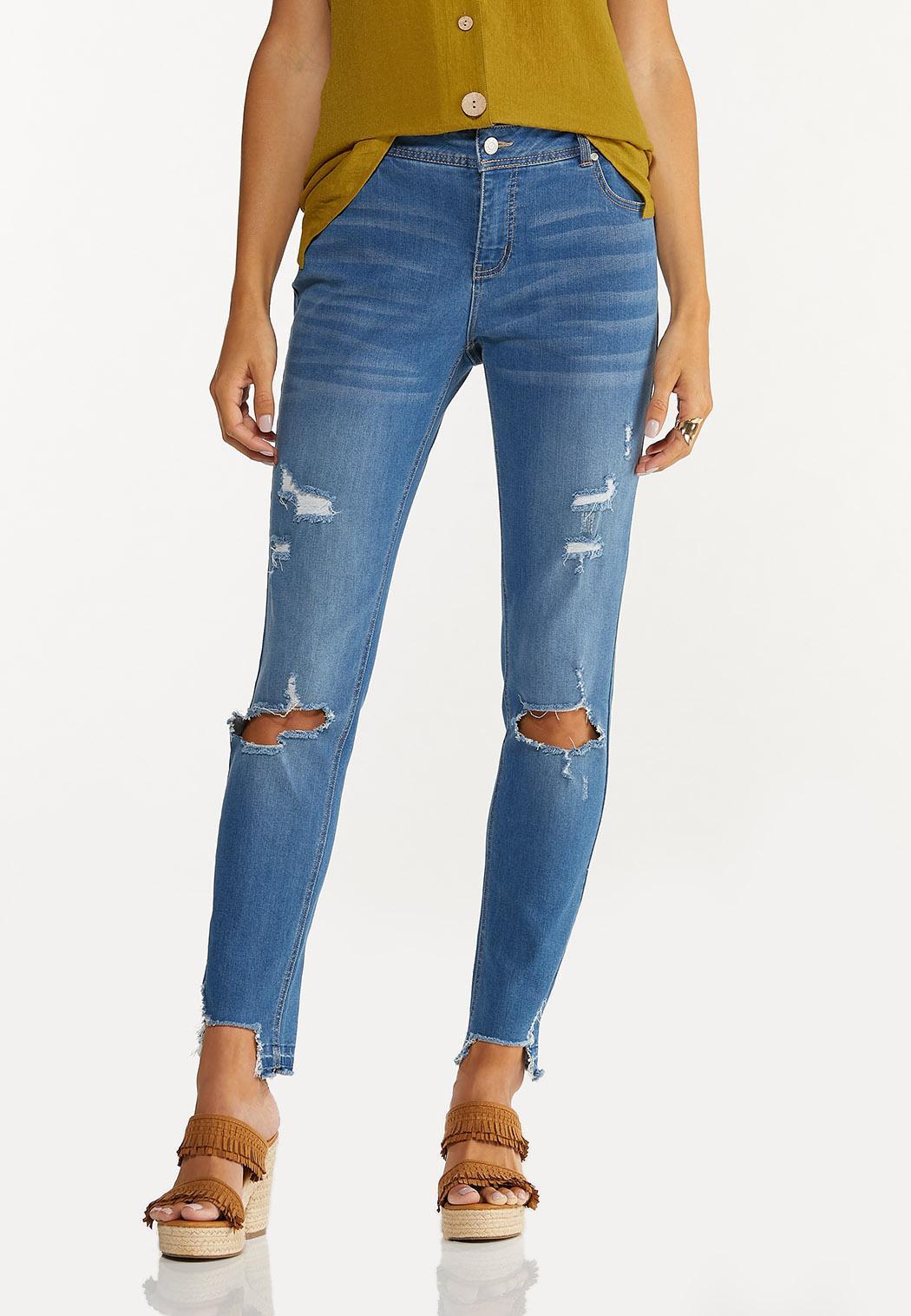 Curvy Distressed Jeans