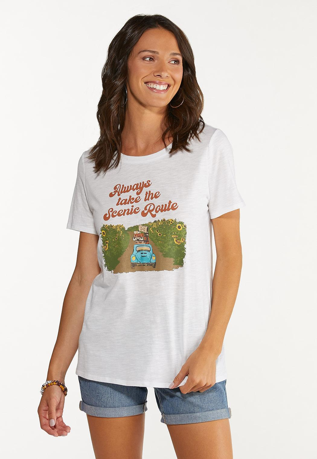 Plus Size Take The Scenic Route Tee