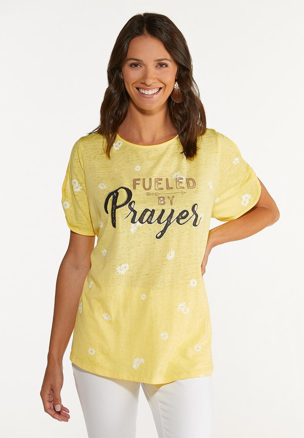 Plus Size Fueled By Prayer Tee