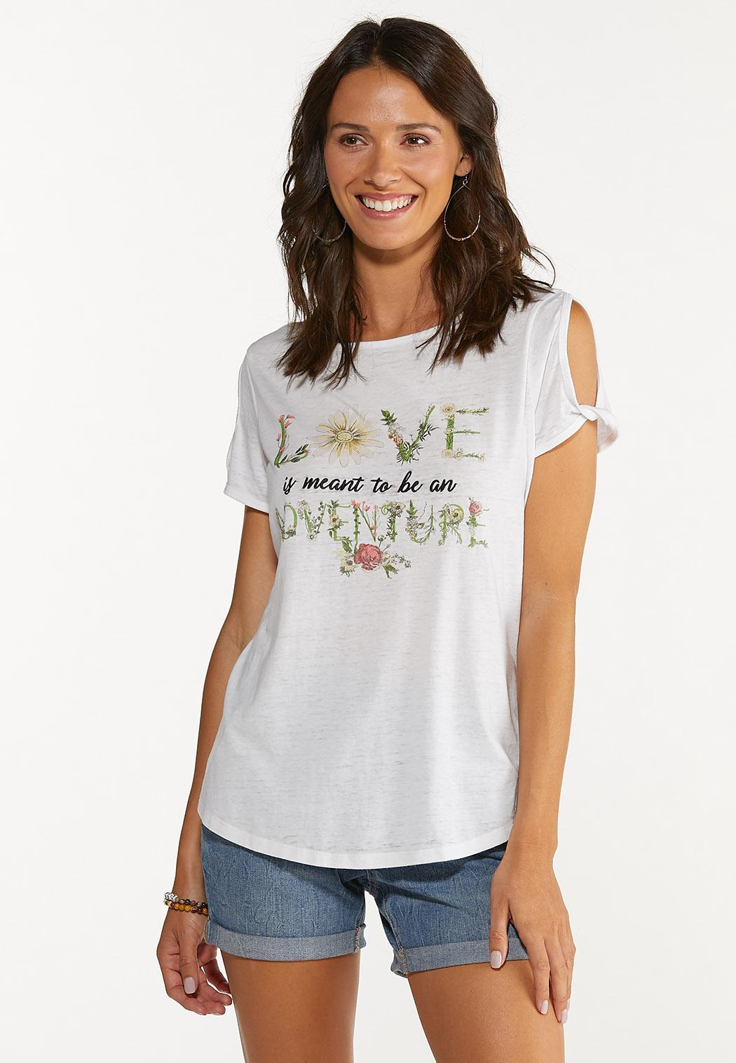 Plus Size Love Is An Adventure Top