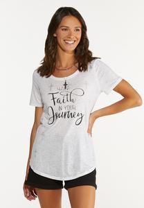 Plus Size Have Faith In Your Journey Tee
