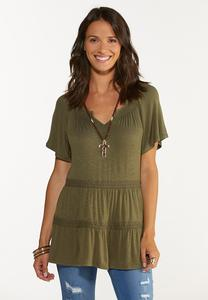 Olive Tiered Top