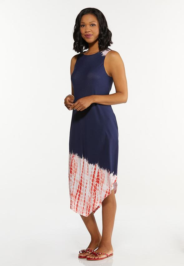Americana Tie Dye Midi Dress