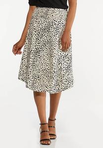 Textured Animal Print Skirt
