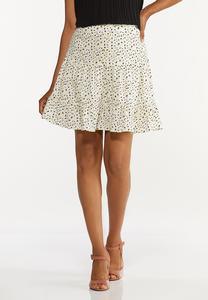 Brushed Dot Mini Skirt