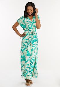 Petite Tasseled Leaf Maxi Dress
