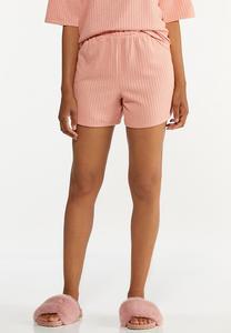 Blushing Ribbed Shorts