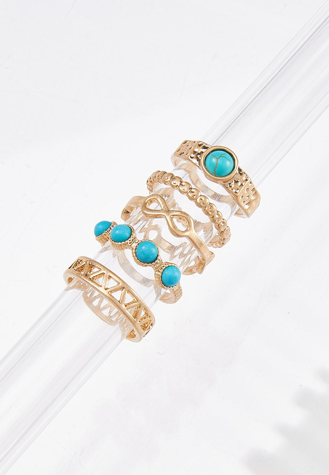Turquoise Multi Ring Set