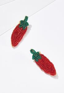 Beaded Pepper Earrings