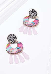 Mixed Print Statement Earrings
