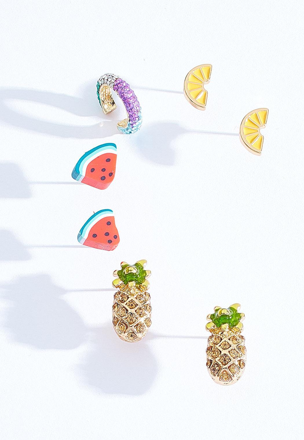 Fruit Cocktail Earring Set