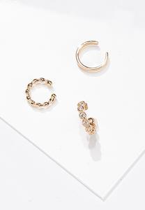 Gold Ear Cuffs Set