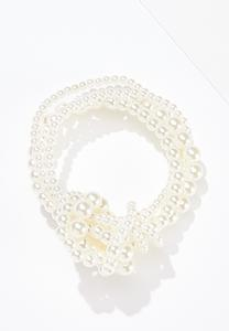 Multi Strand Knotted Pearl Necklace