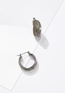 Layered Painted Hoop Earrings