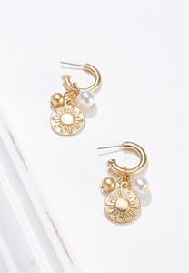 Charm Huggie Hoop Earrings