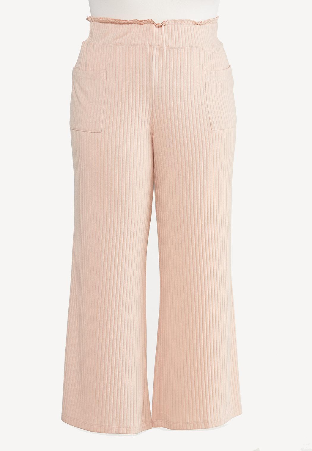 Plus Size Blushing Ribbed Lounge Pants