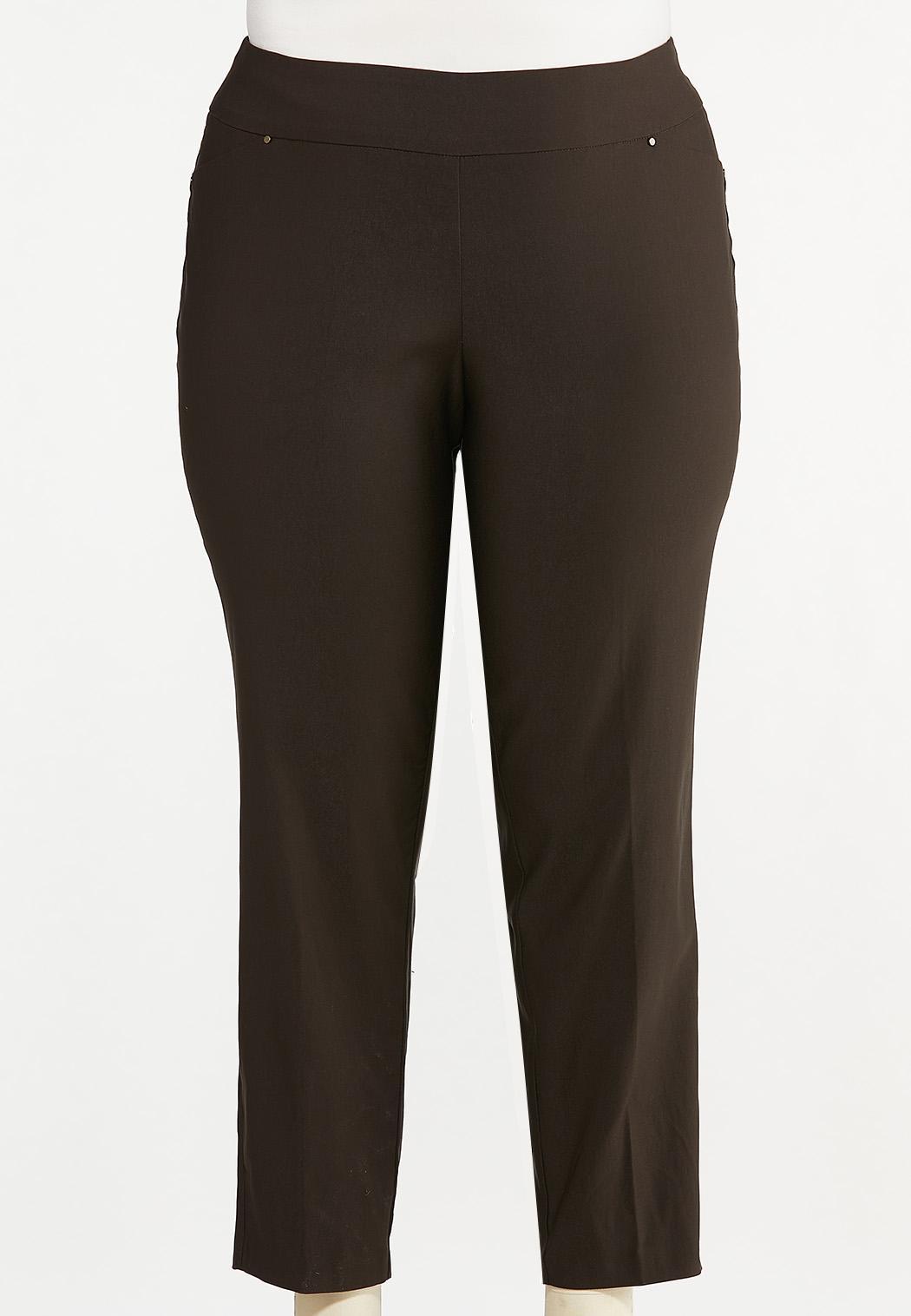 Plus Size Slim Bengaline Pants