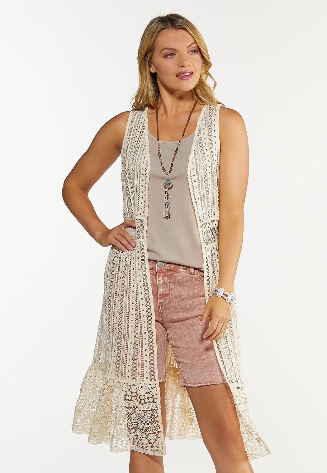 Ruffled Crochet Vest