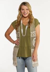 Plus Size Crochet Vest