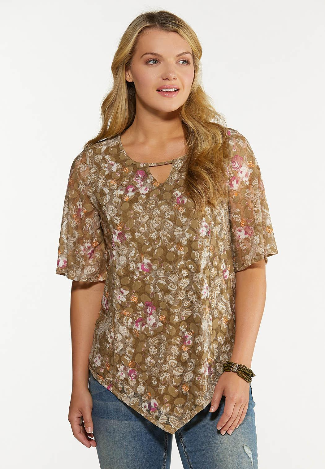 Lacy Pointed Hem Top