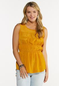 Ruched High-Low Top