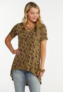 Olive Floral Tunic
