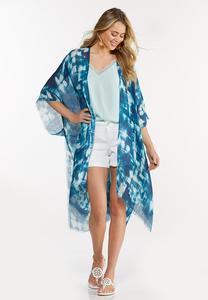Abstract Brushstroke Kimono