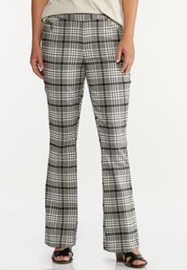 Black Plaid Pants