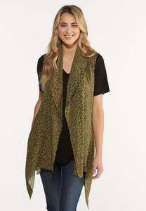 Belted Leopard Cardigan